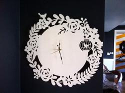 Precision cut clock