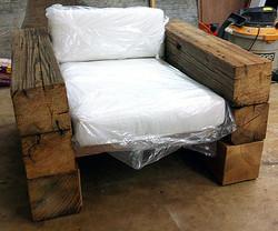 Reclaimed beam patio chair