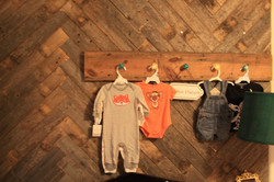 Herringbone nursery wall