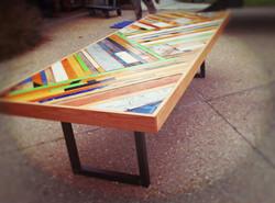 Chevron dining table