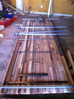 Intricate reclaimed wood diningtable