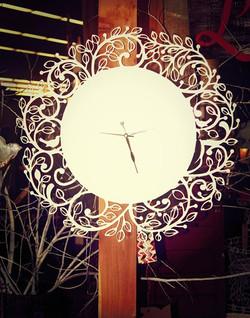 "Facebook - Limited edition leaf clock 23"" x23"""
