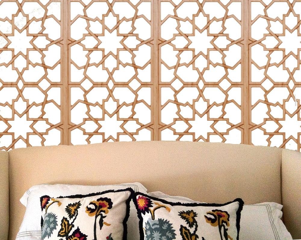 Master bedroom Moroccan screen