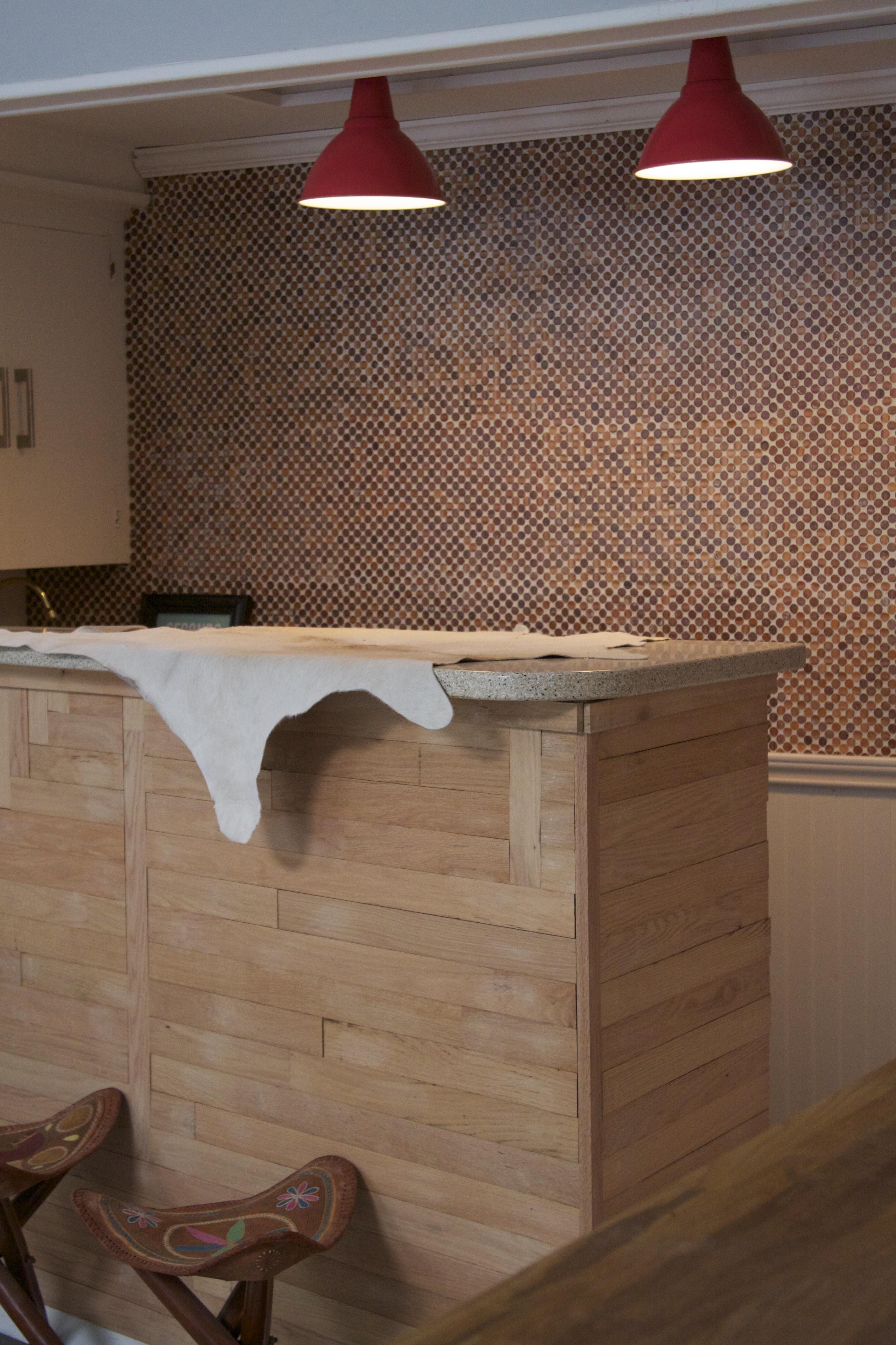 Wood round bar surround