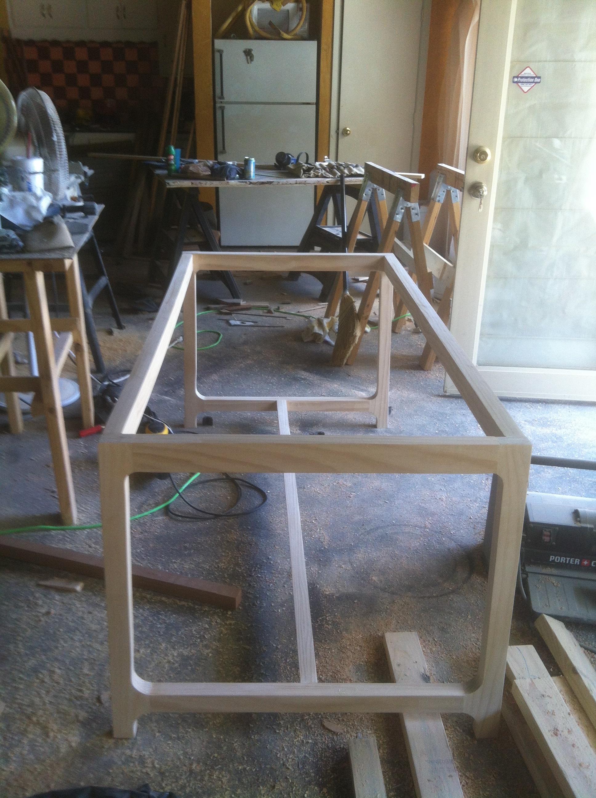Custom dining table base