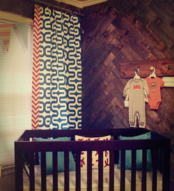 Nursery Herringbone wall