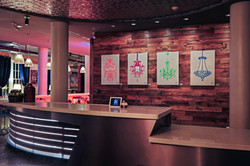 NYLO hotel reception area, Dallas