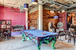 NYLO hotel game room walls, Dallas