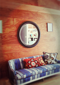 Master bedroom wall treatment