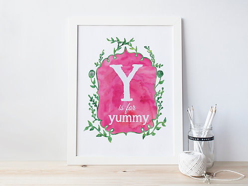 Y is for Yummy - Signed 8x10 Print