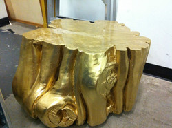 Golden stump occasional table
