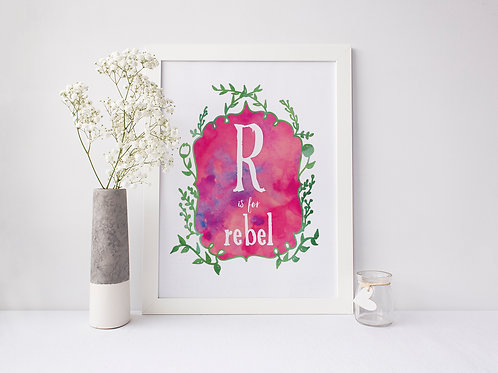 R is for Rebel - Signed 8x10 Print