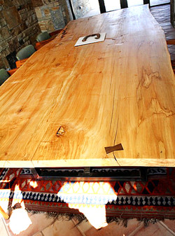 12 ft spalted maple dining table