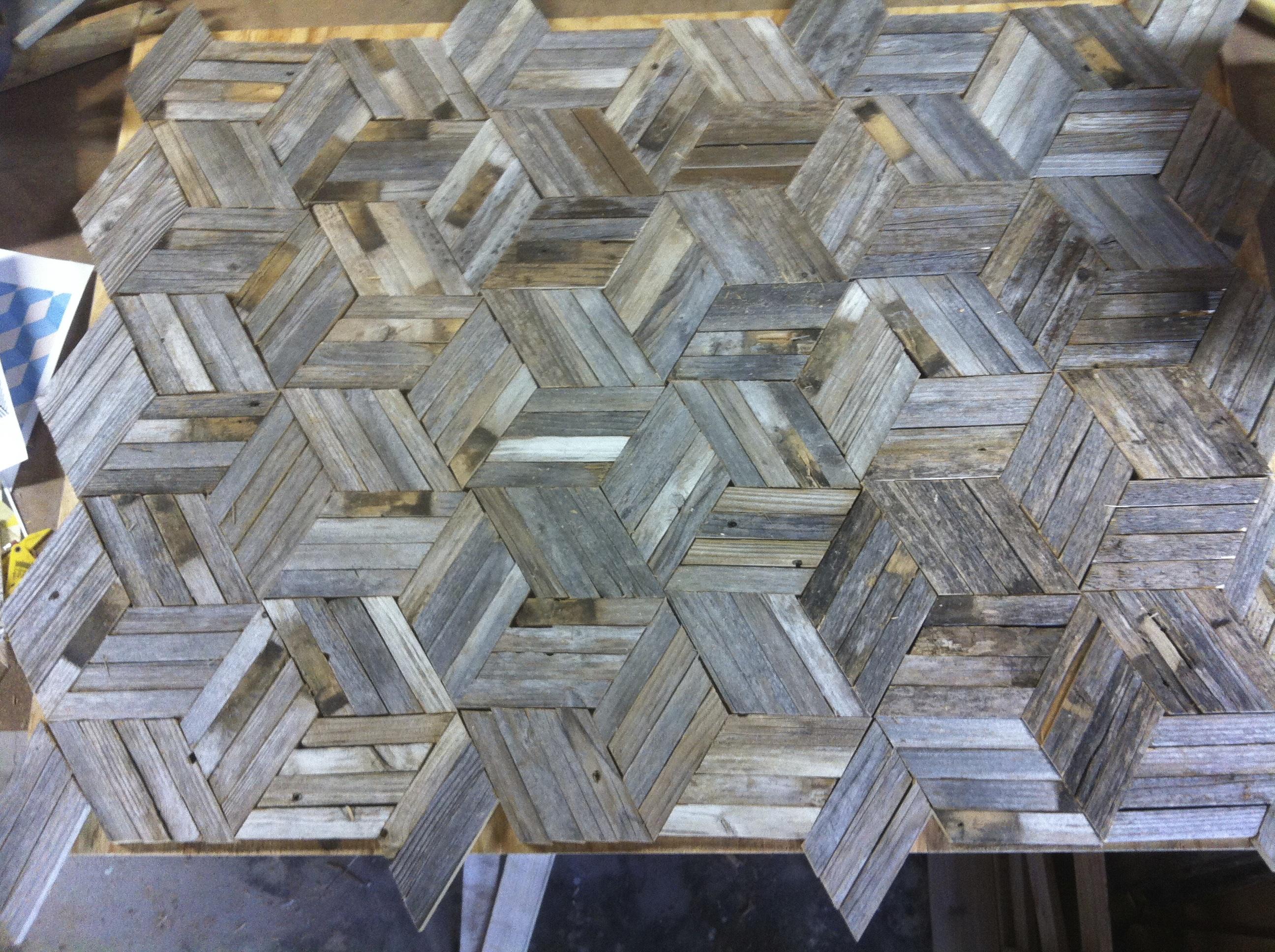 Intricate geometric wall