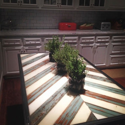 Reclaimed wood kitchen table