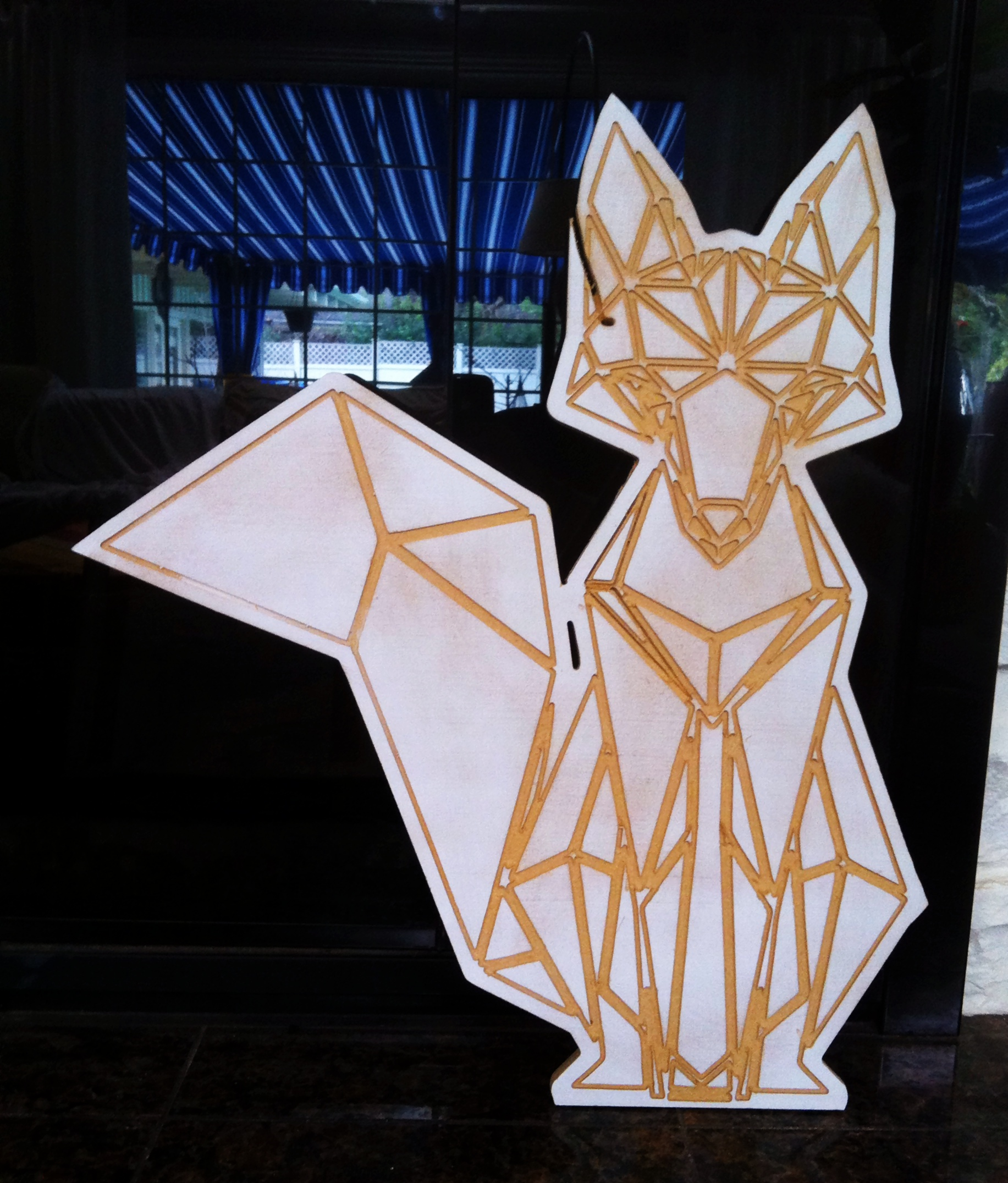 Precision cut fox