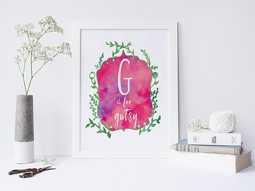 G is for Gutsy - Signed 8x10 Print