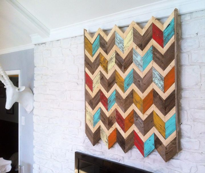 Reclaimed Chevron Wall Hanging