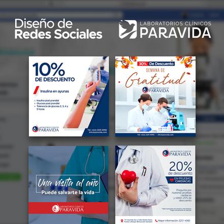 Manejo de Facebook e Instagram para Hospital Paravida El Salvador