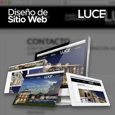 Diseño y Desarrollo de Sitio Web para Luce Iluminacion