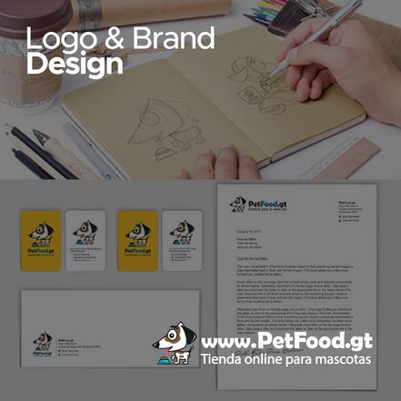 Creación de Logo e Imágen de Marca para PetFood.gt