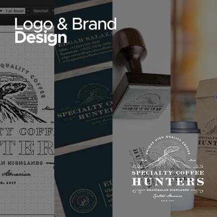 Diseño de Logo e Imágen de Marca para Specialty Coffe Hunters Canadá