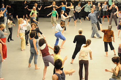 Gaga people class with Ohad Naharin. Photo by Gadi Dagon