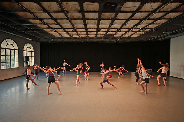 Gaga dancers class at Batsheva studio. photo by Ascaf