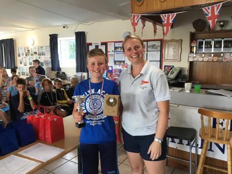 Thomas Alderton Claims Cadet Camp Regatta Award