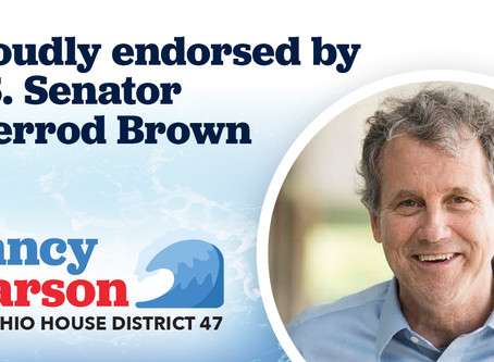 U.S. Senator Sherrod Brown endorses Nancy Larson for Ohio House District 47