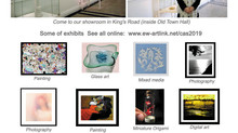 Christmas Art Sale in London King`s road.