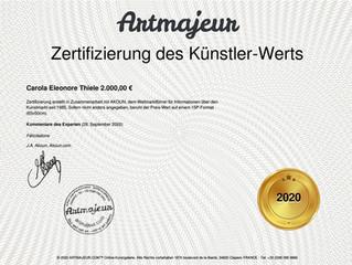 Zertifizierung des Künstler-Werts 2020