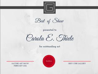 """Best of Show des Art Award von Grey Cube Gallery...""""Nature"""""""