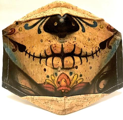 Mexican Dia de los Muertos Facial Cork Mask
