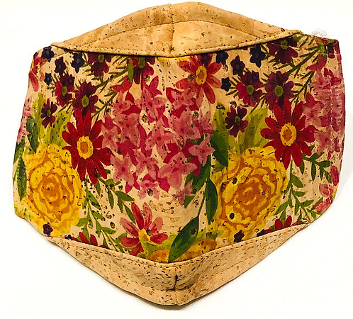 Floral Facial Cork Mask