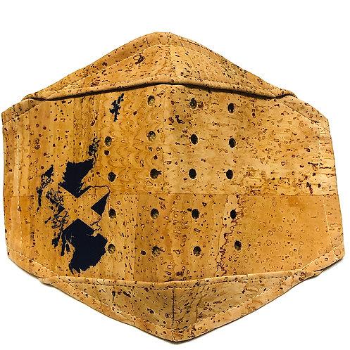 Scotland Map Saltire  Facial Cork Mask