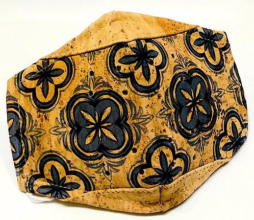 Portuguese Style Tiles Facial Cork Mask