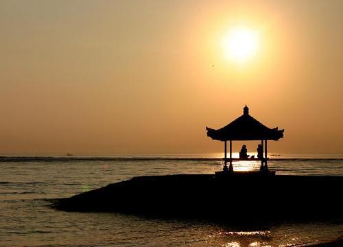 Spiaggia di Sanar al tramonto