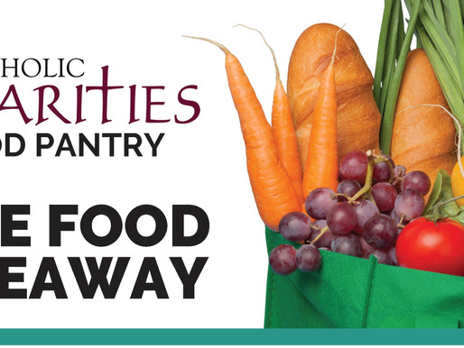 May 1st Free Food Giveaway Catholic Charities Food Pantry