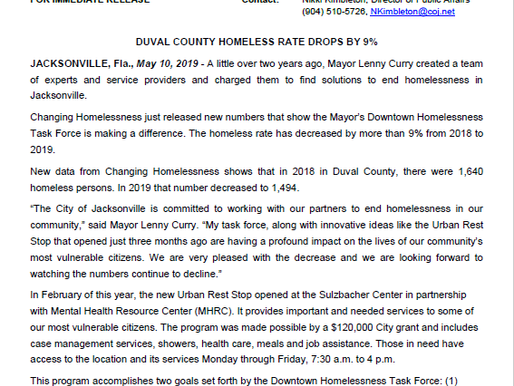 Working together to prevent homelessness in Jacksonville