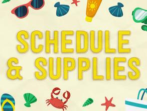 Camp I Am Special Week Six: Schedule & Supplies