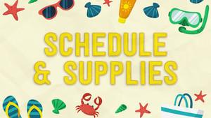 Camp I Am Special Week One: Schedule & Supplies