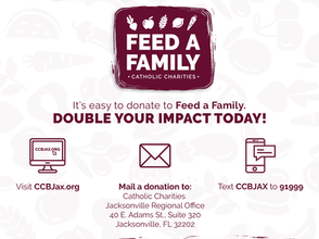 Double Your Impact Today And Donate To Feed A Family!