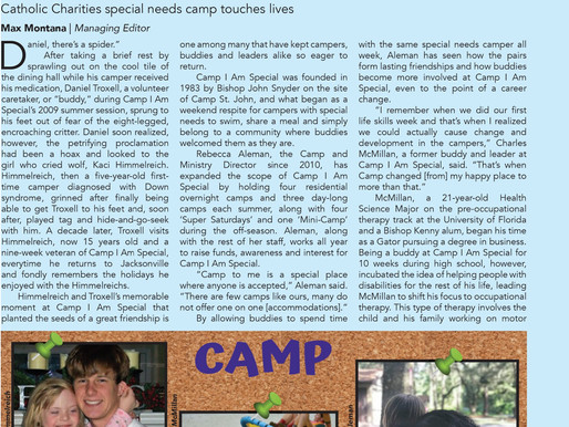 Bishop Kenny Student shares what Camp means to him.