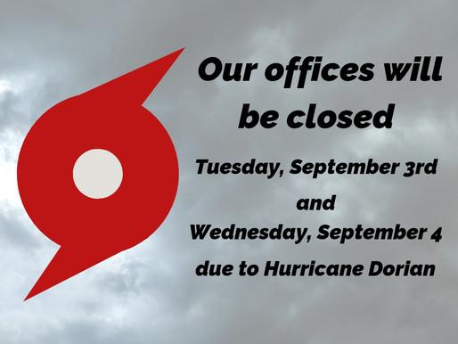 IMPORTANT UPDATE: Hurricane Dorian