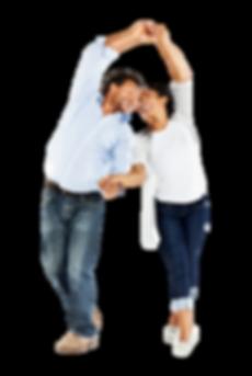 Adult couple dancing