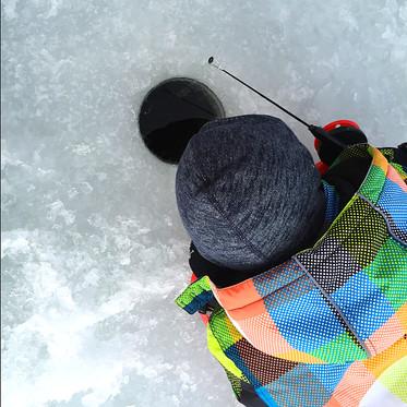 Vinterfiske, Storsjö Prästgård, Storsjö kapell, Ljungdalsfjällen, Sweden