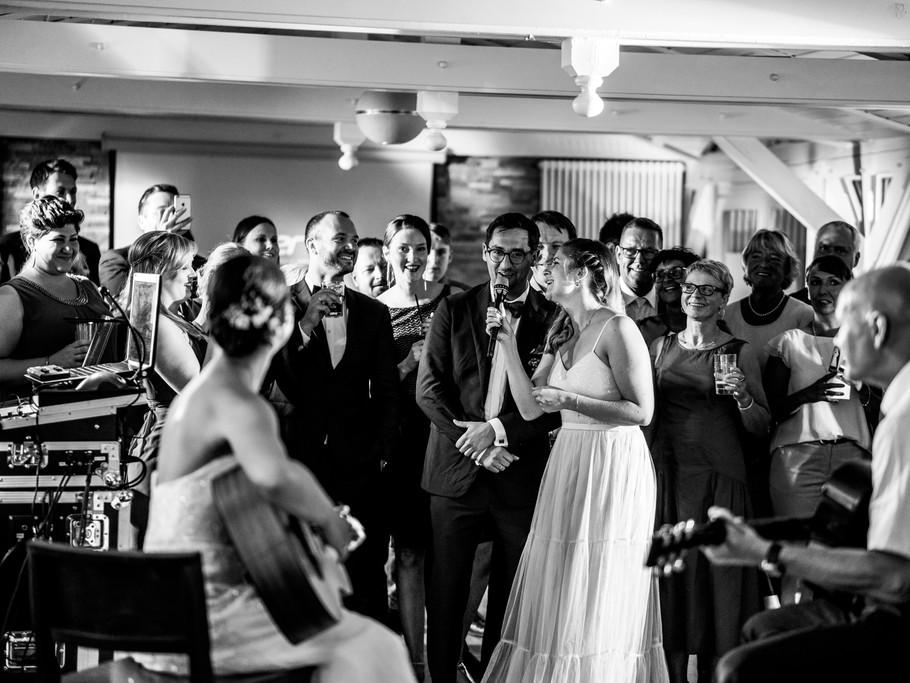 Überraschung für den Bräutigam