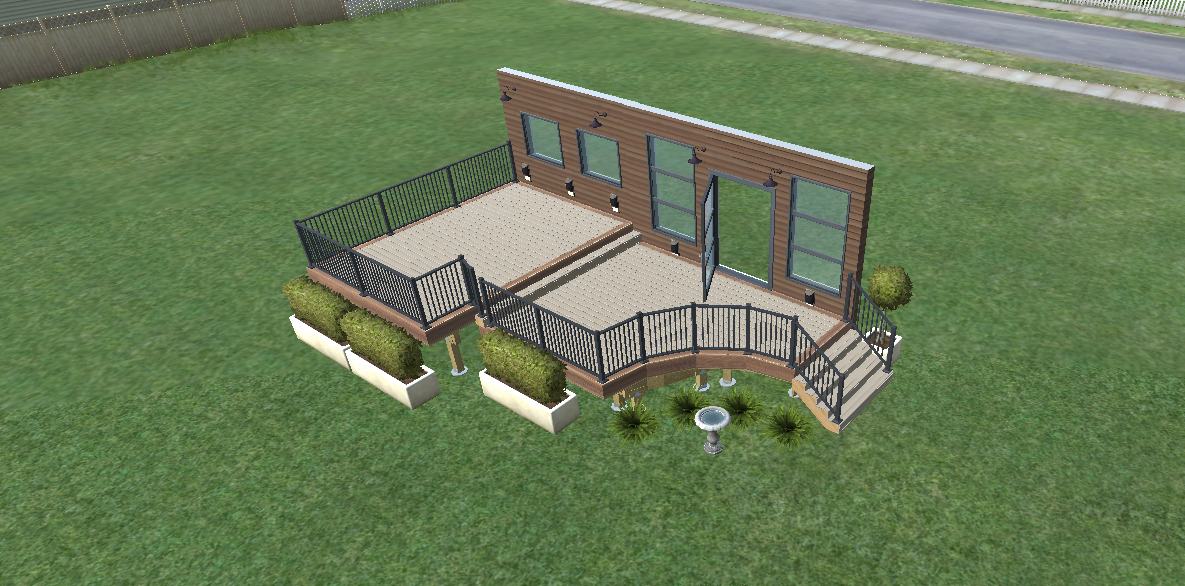 modern composite deck design