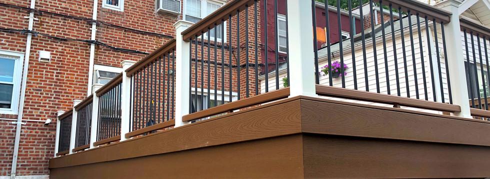 Backyard Deck Over Garage Roof